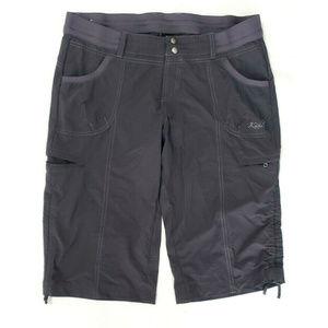 Kuhl Womens Crop Cargo Pants Size 14 Gray